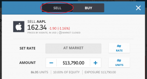 short selling eToro