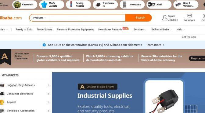 vendite su Alibaba