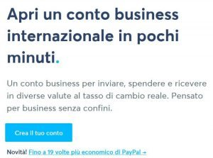 Wise conto business