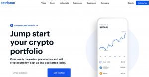 homepage Coinbase