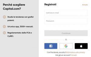 registrazione capital