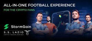 StormGain Sponsor Lazio